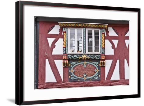 Germany, Hessen, Taunus, German Timber-Frame Road, Bad Camberg, Old Town, Timber-Framed Facade-Udo Siebig-Framed Art Print