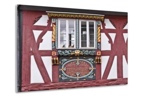 Germany, Hessen, Taunus, German Timber-Frame Road, Bad Camberg, Old Town, Timber-Framed Facade-Udo Siebig-Metal Print