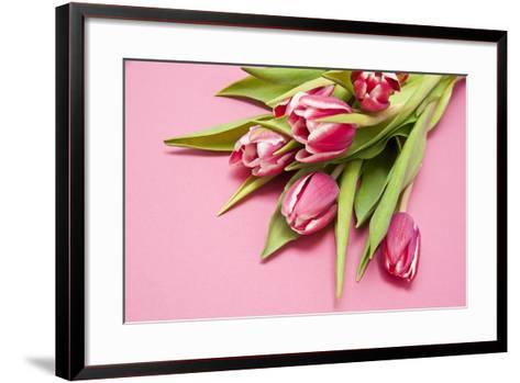 Bouquet, Tulips, Pink, Table-Sebastian Scheuerecker-Framed Art Print