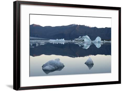 Icebergs, Glacier Lagoon Jškulsarlon, South Iceland-Julia Wellner-Framed Art Print