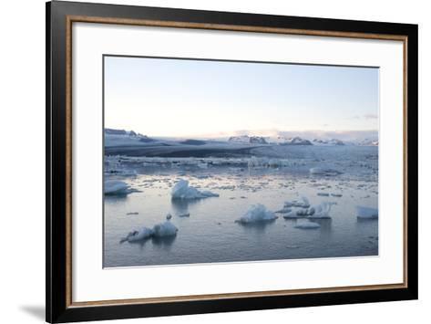 Icebergs, Glacier Lagoon Jškulsarlon, South Iceland-Julia Wellner-Framed Art Print