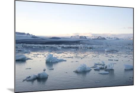 Icebergs, Glacier Lagoon Jškulsarlon, South Iceland-Julia Wellner-Mounted Photographic Print