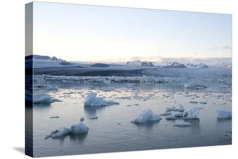 Icebergs, Glacier Lagoon Jškulsarlon, South Iceland-Julia Wellner-Stretched Canvas Print