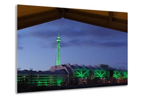 Berlin, Radio Tower, Icc, Evening-Catharina Lux-Metal Print