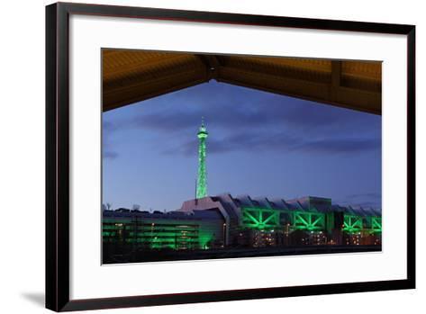 Berlin, Radio Tower, Icc, Evening-Catharina Lux-Framed Art Print
