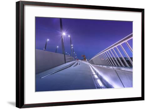 Germany, Hamburg, Harbour, Hafencity, Baakenhafen, BaakenhafenbrŸcke-Ingo Boelter-Framed Art Print