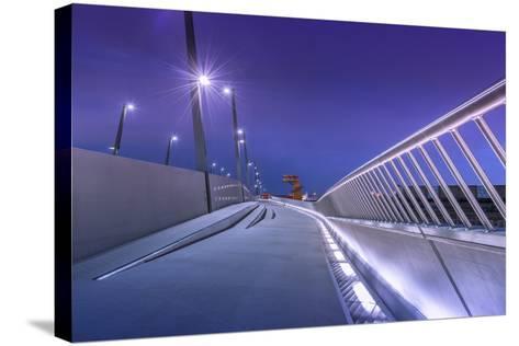 Germany, Hamburg, Harbour, Hafencity, Baakenhafen, BaakenhafenbrŸcke-Ingo Boelter-Stretched Canvas Print