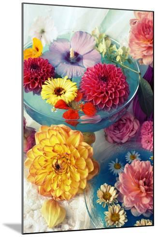 Table Decoration, Coloured Blossoms and Water Bowl-Alaya Gadeh-Mounted Photographic Print