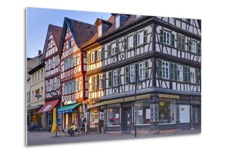 Germany, Hesse, Odenwald (Region), Bergstra§e (Region), Bensheim, High Street-Udo Siebig-Metal Print