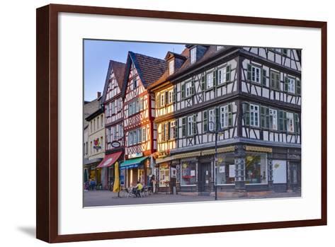 Germany, Hesse, Odenwald (Region), Bergstra§e (Region), Bensheim, High Street-Udo Siebig-Framed Art Print