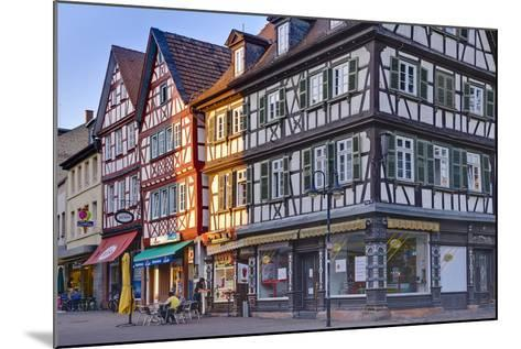Germany, Hesse, Odenwald (Region), Bergstra§e (Region), Bensheim, High Street-Udo Siebig-Mounted Photographic Print
