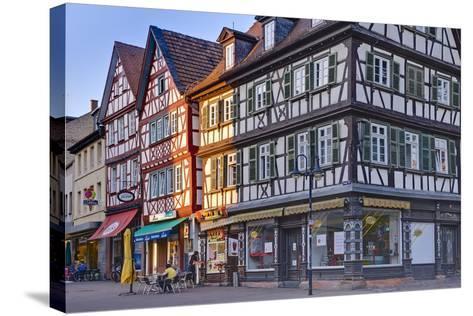 Germany, Hesse, Odenwald (Region), Bergstra§e (Region), Bensheim, High Street-Udo Siebig-Stretched Canvas Print