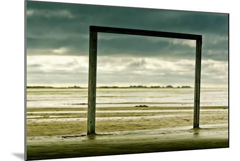 Germany, Schleswig-Holstein, Amrum, Sandy Beach, Sandbank, Kniepsand, Wooden Gate-Ingo Boelter-Mounted Photographic Print