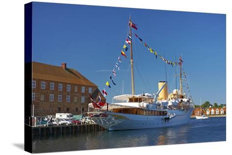 Denmark, Jutland, Sonderborg, Harbour, Royal Yacht 'Dannebrog'-Chris Seba-Stretched Canvas Print