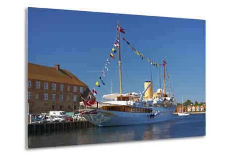 Denmark, Jutland, Sonderborg, Harbour, Royal Yacht 'Dannebrog'-Chris Seba-Metal Print