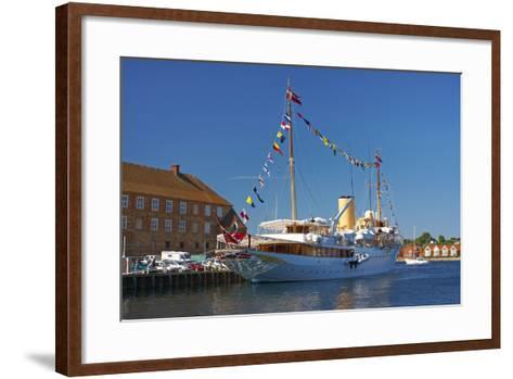 Denmark, Jutland, Sonderborg, Harbour, Royal Yacht 'Dannebrog'-Chris Seba-Framed Art Print