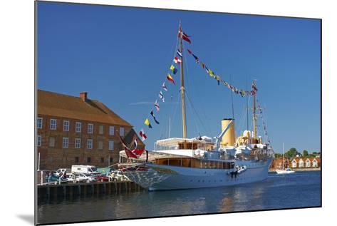 Denmark, Jutland, Sonderborg, Harbour, Royal Yacht 'Dannebrog'-Chris Seba-Mounted Photographic Print