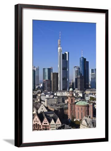 Germany, Hessen, Frankfurt, Skyline, Sky, Blue, St. Paul's Church-Udo Siebig-Framed Art Print