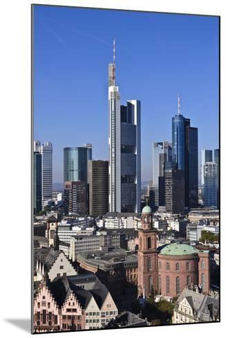 Germany, Hessen, Frankfurt, Skyline, Sky, Blue, St. Paul's Church-Udo Siebig-Mounted Photographic Print