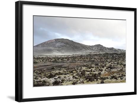 Lavafields and Hills, Hnappadalur, Snaefellsnes, West Iceland-Julia Wellner-Framed Art Print
