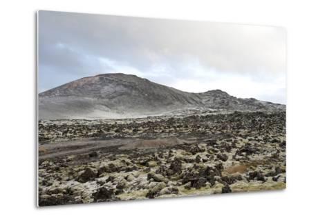 Lavafields and Hills, Hnappadalur, Snaefellsnes, West Iceland-Julia Wellner-Metal Print