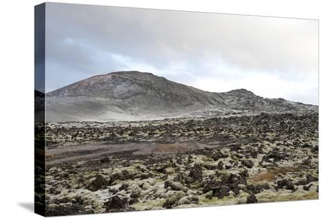 Lavafields and Hills, Hnappadalur, Snaefellsnes, West Iceland-Julia Wellner-Stretched Canvas Print