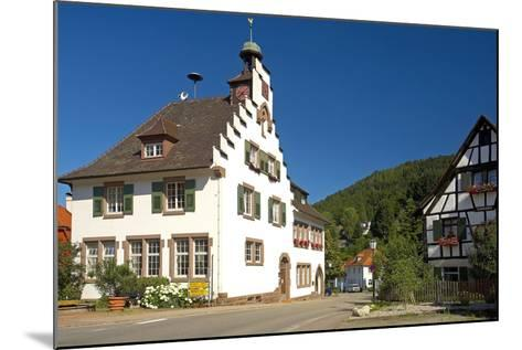 Germany, Baden-WŸrttemberg, Black Forest, Badenweiler, Town Hall, Half-Timbered House-Chris Seba-Mounted Photographic Print