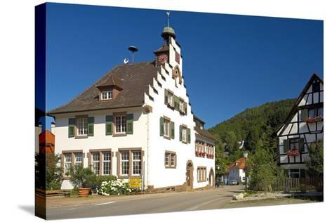 Germany, Baden-WŸrttemberg, Black Forest, Badenweiler, Town Hall, Half-Timbered House-Chris Seba-Stretched Canvas Print