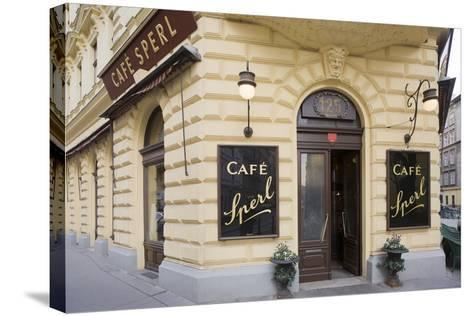 Austria, Vienna, Cafe Sperl, Cafe in Retro Styled Building-Rainer Mirau-Stretched Canvas Print