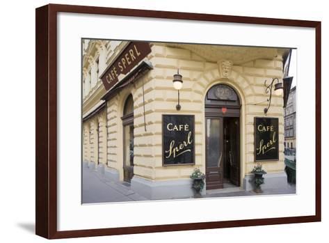 Austria, Vienna, Cafe Sperl, Cafe in Retro Styled Building-Rainer Mirau-Framed Art Print