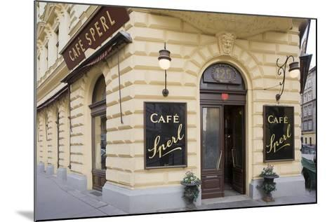 Austria, Vienna, Cafe Sperl, Cafe in Retro Styled Building-Rainer Mirau-Mounted Photographic Print