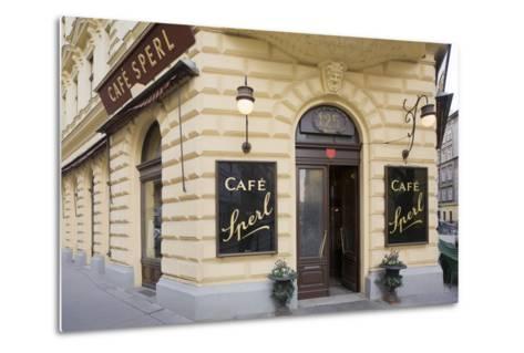 Austria, Vienna, Cafe Sperl, Cafe in Retro Styled Building-Rainer Mirau-Metal Print