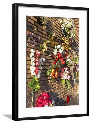 Spain, Madrid, Cathedral Nuestra Senora De Alpudena, Wall, Flower-Jewelry-Chris Seba-Framed Art Print