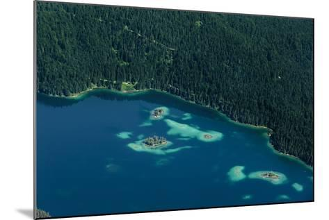 Lake Eibsee from Above-By-Mounted Photographic Print