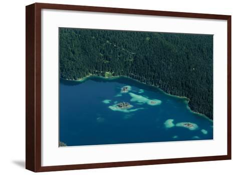Lake Eibsee from Above-By-Framed Art Print