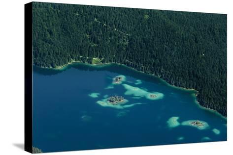 Lake Eibsee from Above-By-Stretched Canvas Print