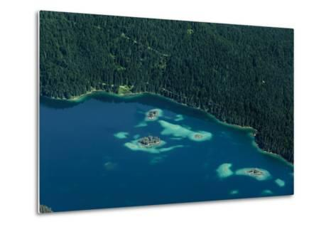 Lake Eibsee from Above-By-Metal Print