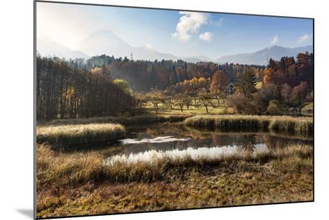Autumn at Aichwaldsee-Simone Wunderlich-Mounted Photographic Print