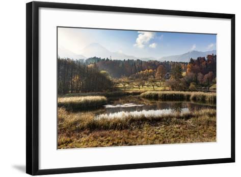 Autumn at Aichwaldsee-Simone Wunderlich-Framed Art Print