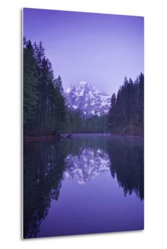 Austria, Upper Austria, Almtal (Valley), Gro§er …dsee (Lake), Gro§er Priel (Lake-Rainer Mirau-Metal Print