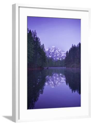 Austria, Upper Austria, Almtal (Valley), Gro§er …dsee (Lake), Gro§er Priel (Lake-Rainer Mirau-Framed Art Print
