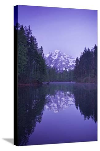 Austria, Upper Austria, Almtal (Valley), Gro§er …dsee (Lake), Gro§er Priel (Lake-Rainer Mirau-Stretched Canvas Print