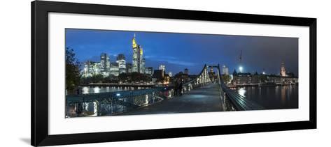 Germany, Hesse, Financial District-Bernd Wittelsbach-Framed Art Print