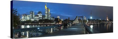 Germany, Hesse, Financial District-Bernd Wittelsbach-Stretched Canvas Print