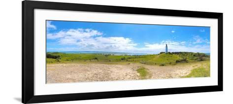 Panoramic View at Island Hiddensee in the Direction of South, Left: the Bodden, Dornbusch-Torsten Elger-Framed Art Print