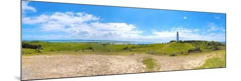 Panoramic View at Island Hiddensee in the Direction of South, Left: the Bodden, Dornbusch-Torsten Elger-Mounted Photographic Print