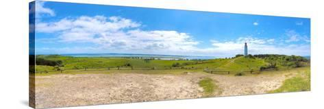 Panoramic View at Island Hiddensee in the Direction of South, Left: the Bodden, Dornbusch-Torsten Elger-Stretched Canvas Print