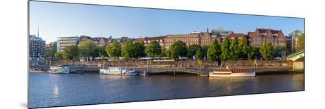 Banks of Weser, Martinianleger (Downtown Pier), Bremen, Germany, Europe-Chris Seba-Mounted Photographic Print