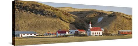 Settlement Sudur Gštur, Near Vik, South Iceland, Iceland-Rainer Mirau-Stretched Canvas Print