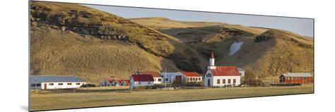 Settlement Sudur Gštur, Near Vik, South Iceland, Iceland-Rainer Mirau-Mounted Photographic Print